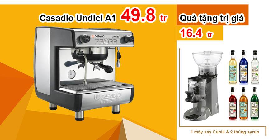 Máy pha cafe espresso Casadio Undici A1 | Giảm còn 49.8 triệu tặng quà 16.4 triệu
