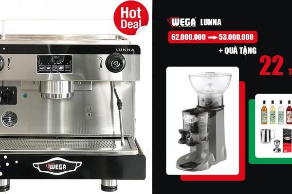 Máy pha cà phê Wega Lunna khuyến mãi còn 53 triệu | Tặng quà 22 triệu