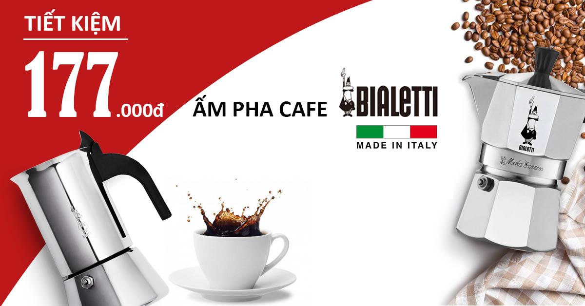 Khuyến mãi ấm pha cafe Bialetti cao cấp của Ý | Siêu tiết kiệm