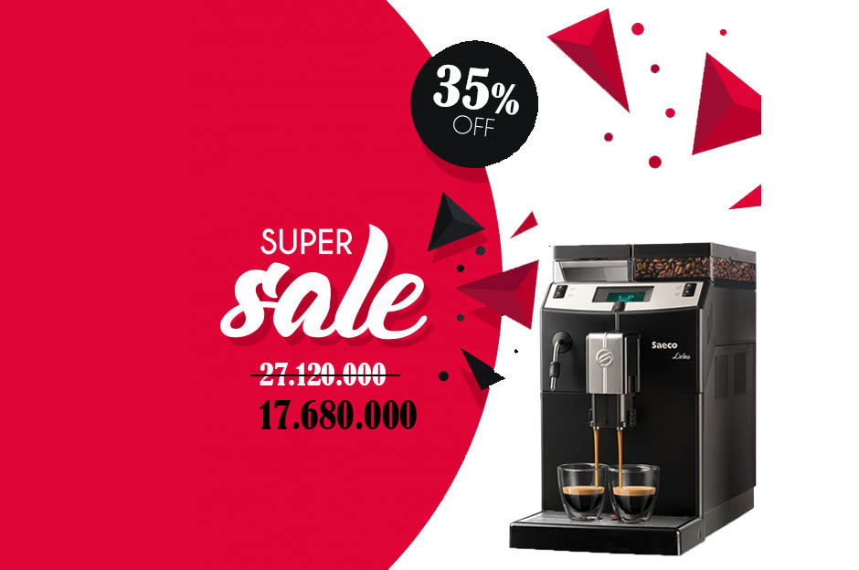 Máy pha cà phê tự động Saeco Lirika giảm 35% mừng Tết Kỷ Hợi